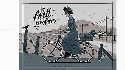 The Avett Brothers Poster 2/26/15 Wichita Kansas Wicked Witch Toto Wizard Of Oz