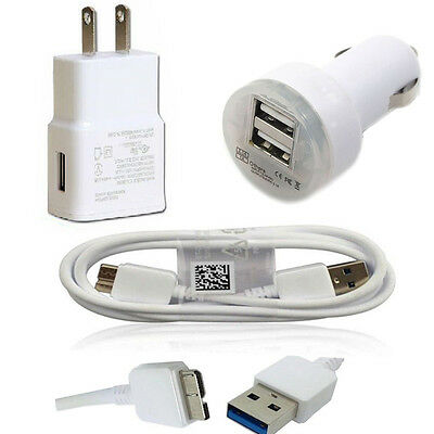 USB data Sync Cable+Car+Wall Home Charger for Samsung Galaxy S5 Note 3 III N9000
