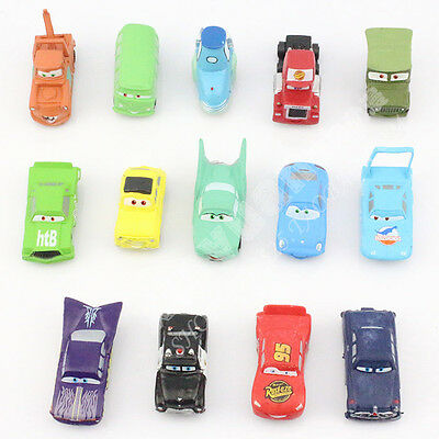 Set of 14Pcs Disney Pixar Cars Lightning McQueen Mater Sally Luigi Cars Toy Gift