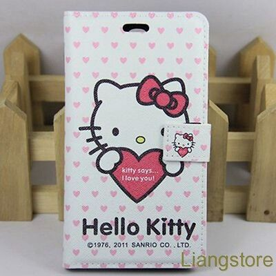 New Hello Kitty PU leather Stand Flip Cover Case 4 Samsung Galaxy Mega 6.3 i9200