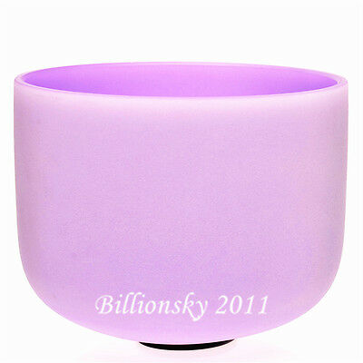 """Violet Colored Frosted A# Pineal Chakra Quartz Crystal Singing Bowl 10"""""""