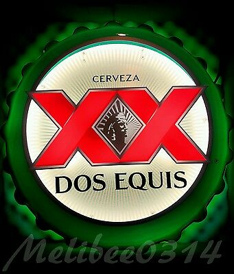 DOS EQUIS THE MOST INTERESTING MAN IN THE WORLD BOTTLE CAP BEER NEON SIGN