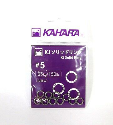 Kahara Solid Ring Stainless Steel Size 5 - 150lb (5701)