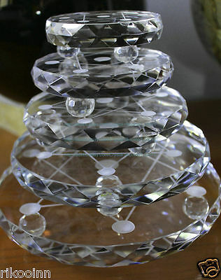 5PCS Super Clear Cute 7* Crystal Base Stand 80mm/100mm/120mm/150mm/180mm