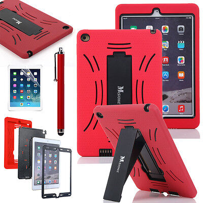 Hot Red Hybrid Heavy Duty Shockproof Case Cover Stand For Apple iPad Air 2  New