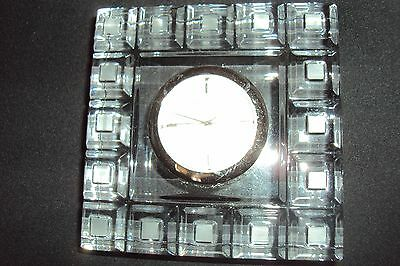 Waterford Marquis Crystal Quadrata Small Clock #125309 -New