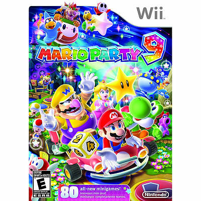MARIO PARTY 9  (Wii, 2012) (2841-RB18) SHIPS NEXT DAY    ***FREE SHIPPING USA***