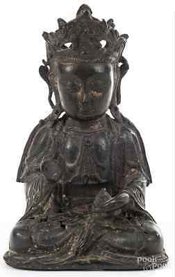 Chinese Bronze Statue Of Buddha Ming Dynasty