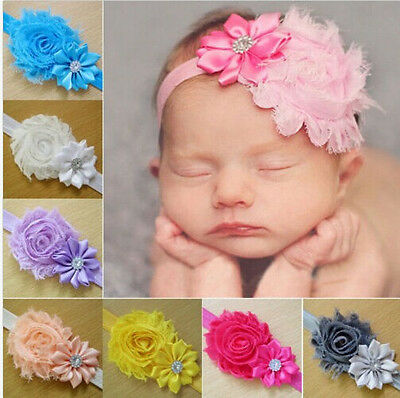 10PCS Kid Girl Baby Toddler Infant Flower Headband Hair Bow Band Accessories11