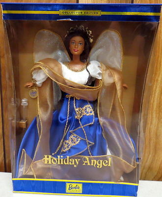 Holiday Angel 2000 Collector Edition Barbie Brunette/African American 28081 New