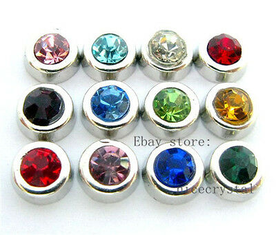 60pcs Mixed color Nice BIRTHSTONE Charms for Floating Charm Memory Locket FC181