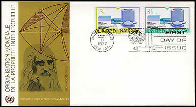 United Nations NY 1977 Intellectual Property Org. FDC First Day Cover #C21244
