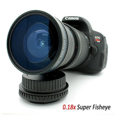 New 180° Super Wide Angle Macro Fisheye LENS FOR Canon 550D 1100D 600D 650D