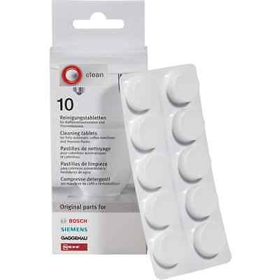 GENUINE TZ60001 CLEANING TABLETS BOSCH SIEMENS COFFEE MAKER MACHINE 10pcs