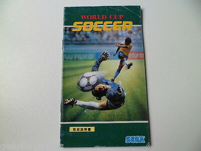 Mega Drive Genesis Japan Soccer Manual Instructions