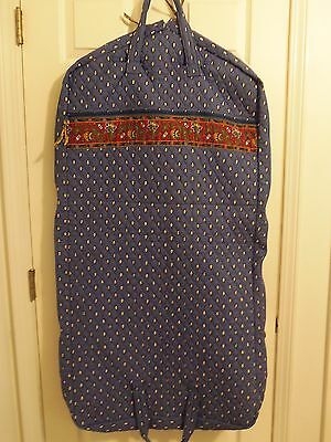VERA BRADLEY GARMENT BAG FRENCH BLUE/YELLOW RETIRED RARE EXCELLENT CONDITION