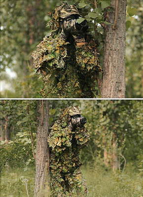 Camouflage Jungle Maple Camouflage Ghillie Suit Sniper Hunting Clothes One Siz