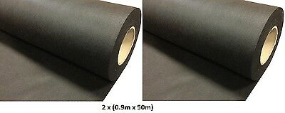 2 x (0.9M x 50M) Weed Control Fabric Landscape Membrane Ground Cover 50gms