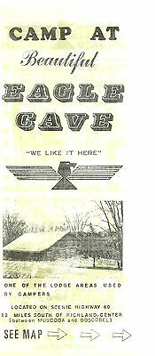 Vintage Brochure for Eagle Cave Campground near Richland Center Wisconsin