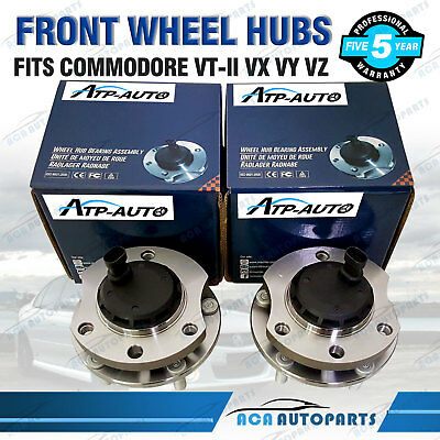 SET OF 2 FRONT WHEEL BEARING & HUB UNIT HOLDEN COMMODORE VT-II VX VY VZ with ABS