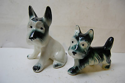 Two (2) Darling Ceramic Scottish Terrier Dogs