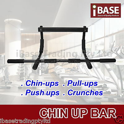 Chin Up Bar Portable Home Wall Mount Dip Pullup Exercises Doorway Gym Equipment