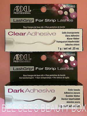 Ardell LashGrip Lash Glue Adhesive 7g. For Strip Lashes - Clear or Dark