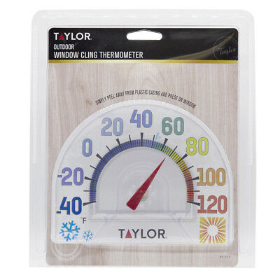 """New! #5323 TAYLOR Seasons *Window Cling* 7"""" Outdoor Thermometer No Tool Needed!"""