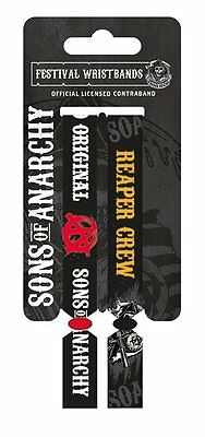 Sons Of Anarchy Pack Of 2 Fabric Festival Wristbands BY PYRAMID FWR680013