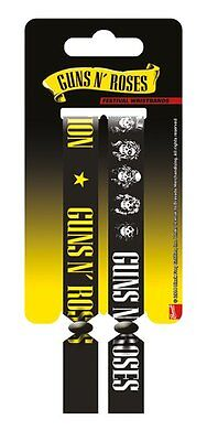 Guns N' Roses Pack Of 2 Fabric Festival Wristbands BY PYRAMID FWR680025