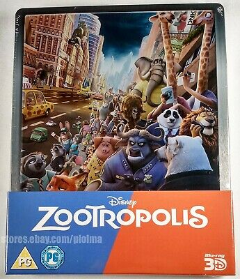 ZOOTROPOLIS (Zootopia) 3D & 2D Blu-Ray STEELBOOK Disney Region-Free UK Import