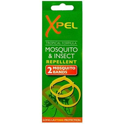 2 X Anti-Mosquito Wrist Bands Insect Bug Repellant Bracelets Twin Pack