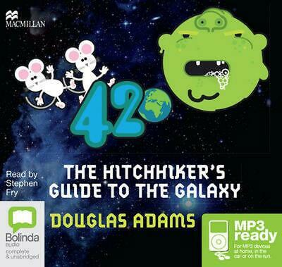 The Hitchhiker's Guide to the Galaxy by Douglas Adams Free Shipping!