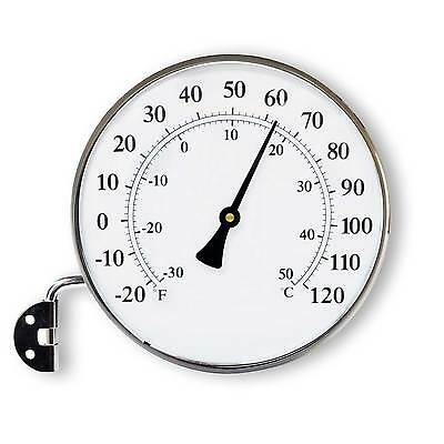 Charcoal FitzRoy Circular Thermometer by Garden Trading