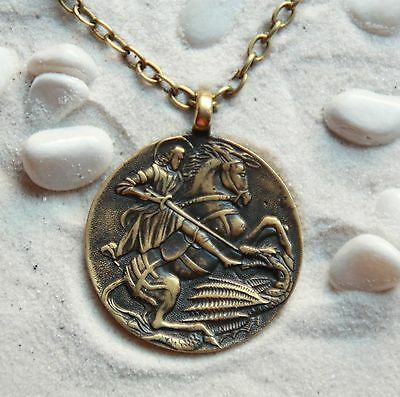 St.George the Victorious Bronze Handmade Pendant with chain