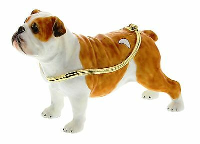 BULLDOG TRINKET BOX, Figurine, Gift, Ornament, Collectable, DOG LOVER