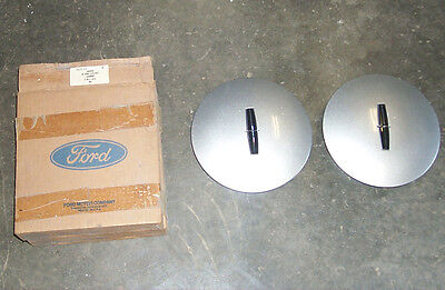 2 NOS Hub Caps/Aluminum Wheel-Covers 1990 1991 1992 Lincoln Town Car/Ford Part
