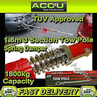 Maypole GS TUV Approved 1800kg Car Van Tow Towing Pole Bar With Spring Damper