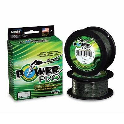 Power Pro Spectra Braided Fishing Line 20 lb Test 1500 Yards Yds Moss Green 20lb