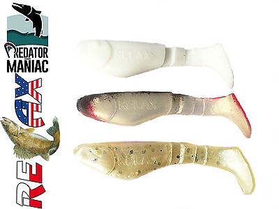 "relax kopyto 2""( 5cm). pack of 3 shads.soft plastic lures perch,pike,zander,bass"