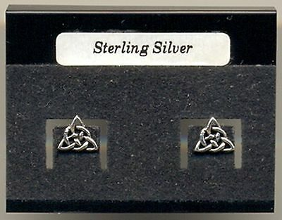 Celtic Triangle Sterling Silver 925 Studs Earrings Carded