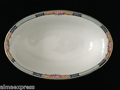 Gimbel Brothers KPM Bavaria Germany China 27044-4576 Roses & Gold SERVING BOWL 2