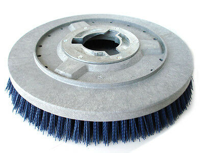 """Blue Bristle, 15"""" Brush For Some Floor Machines, Universal Clutch 3-1/8"""" Id, New"""
