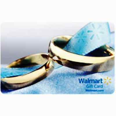 WalMart WEDDING RING Gift Card Collectible Only