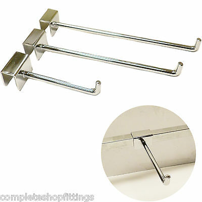 Super Heavy Duty Chrome Market Stall Display Bar Hanger Arm Prong For Display