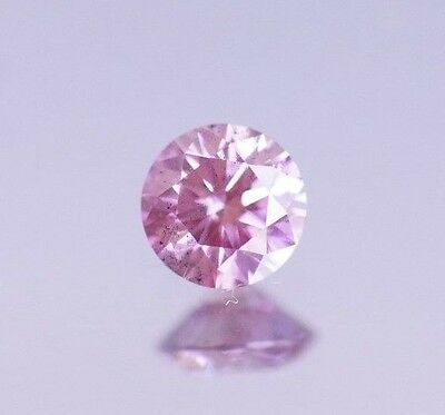 Fancy Light Pink Diamond 0.20 Ct, Color Enhanced Hpht Natural Loose Certified
