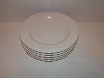 "Lot of 5 Syracuse Cascade Embossed Swirl 7 1/2"" Plates"