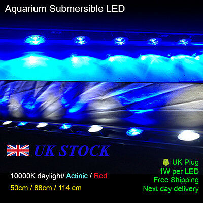 "Aquarium LED Red Enhancement - 56 cm / 20"" Full Submersible Power LED  9W"