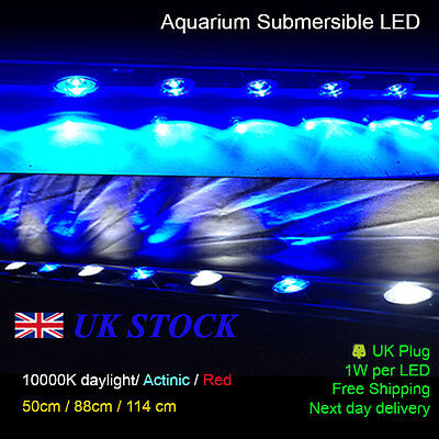 "Aquarium LED Light 10000k / Actinic - 89 cm / 35"" Full Submersible Power LED"
