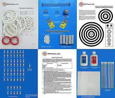 1976 Williams Space Mission Pinball Deluxe Tune-up Kit - Includes Rubber Rings